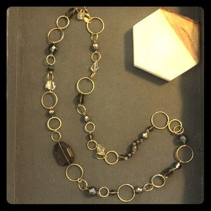 Goldtone and Glass Bead Necklace